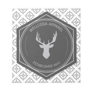 Wellcoda Apparel Stag Party Deer Season Notepad