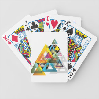 Wellcoda Apparel Triangle Wars Tri Planet Bicycle Playing Cards