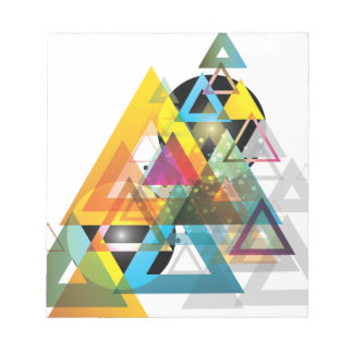 Wellcoda Apparel Triangle Wars Tri Planet Notepad