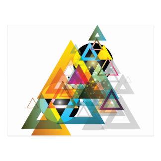 Wellcoda Apparel Triangle Wars Tri Planet Postcard