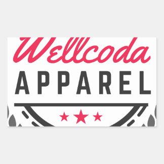 Wellcoda Apparel Vintage Style Edinburgh Rectangular Sticker