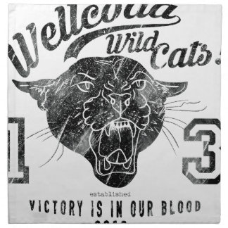 Wellcoda Apparel Wild Cat Team Sport Club Napkin