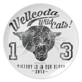 Wellcoda Apparel Wild Cat Team Sport Club Plate