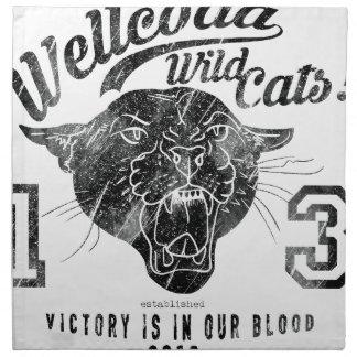 Wellcoda Apparel Wild Cats USA Sport Team Printed Napkins