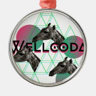 Wellcoda Apparel Wild Giraffe Animal Life Christmas Ornament