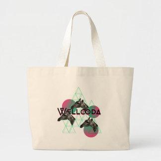 Wellcoda Apparel Wild Giraffe Animal Life Jumbo Tote Bag