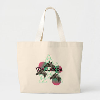 Wellcoda Apparel Wild Giraffe Animal Life Large Tote Bag