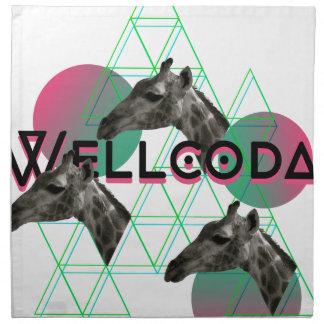 Wellcoda Apparel Wild Giraffe Animal Life Napkin