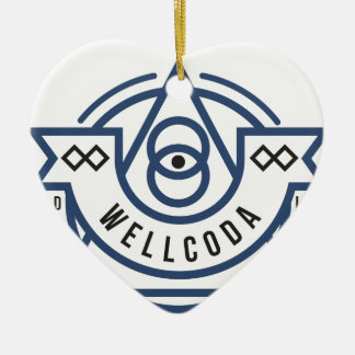 Wellcoda Apparel Wild Life Eye Illuminati Ceramic Heart Decoration
