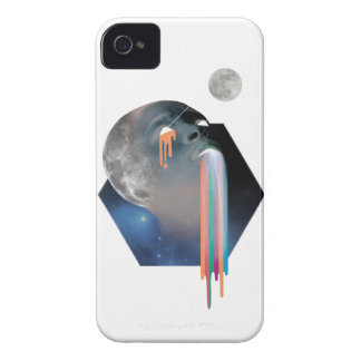 Wellcoda Bald Head Moon Skull Galaxy Face iPhone 4 Case