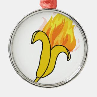 Wellcoda Banana On Fire Happy New Year Christmas Ornament