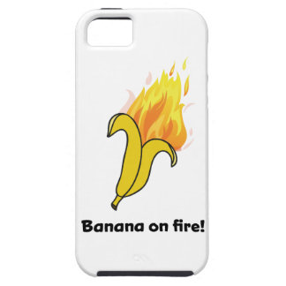 Wellcoda Banana On Fire Happy New Year iPhone 5 Cover
