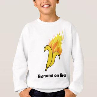 Wellcoda Banana On Fire Happy New Year Sweatshirt