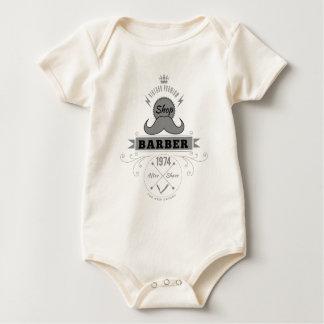 Wellcoda Barber Shop Moustache Aftershave Baby Bodysuit