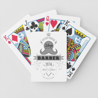 Wellcoda Barber Shop Moustache Aftershave Bicycle Playing Cards