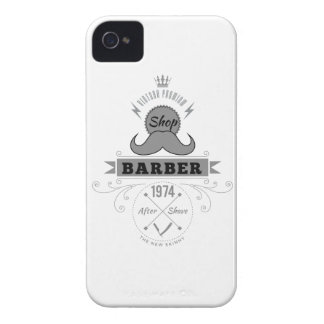 Wellcoda Barber Shop Moustache Aftershave iPhone 4 Case-Mate Case