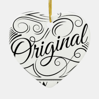 Wellcoda Be Original Yourself Motivation Ceramic Heart Decoration