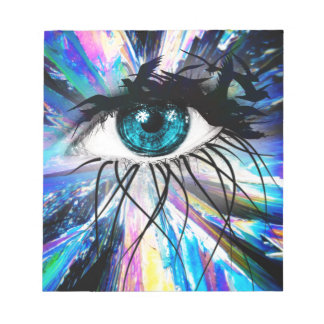 Wellcoda Beautiful Eye Art Pretty Face Notepad