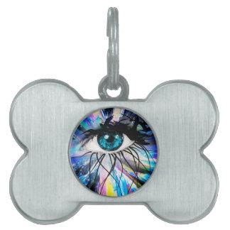 Wellcoda Beautiful Eye Art Pretty Face Pet Name Tag