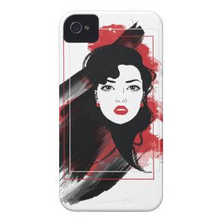Wellcoda Beautiful Lady Style Retro Art iPhone 4 Cover