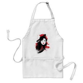 Wellcoda Beautiful Lady Style Retro Art Standard Apron