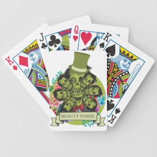 Wellcoda Beauty Inside Zombie Beast Head Bicycle Playing Cards