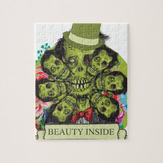 Wellcoda Beauty Inside Zombie Beast Head Jigsaw Puzzle