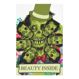 Wellcoda Beauty Inside Zombie Beast Head Stationery