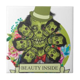Wellcoda Beauty Inside Zombie Beast Head Tile