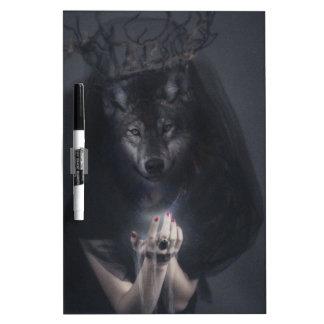 Wellcoda Big Bad Wolf Woman Evil Queen Dry Erase Whiteboards