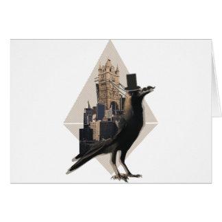 Wellcoda Bird In London City Tower Bridge Card
