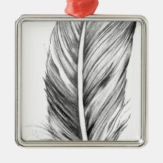 Wellcoda Bird Of A Feather Life Dream Fun Silver-Colored Square Decoration