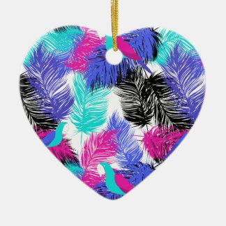 Wellcoda Bird Of Paradise Life Parrot Fun Ceramic Heart Decoration