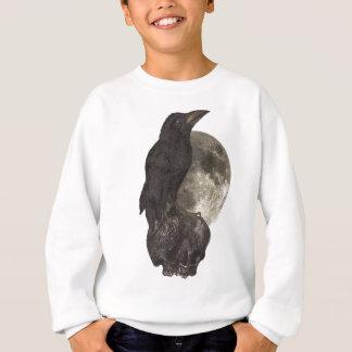 Wellcoda Black Crow On Skull Darkside Sweatshirt