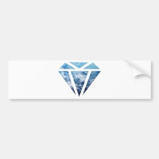 Wellcoda Blue Diamond Sky Cloud Jewel Love Bumper Sticker