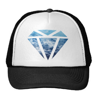 Wellcoda Blue Diamond Sky Cloud Jewel Love Cap