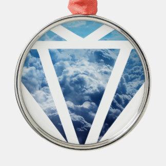 Wellcoda Blue Diamond Sky Cloud Jewel Love Christmas Ornament