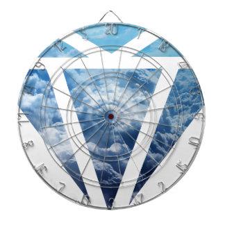 Wellcoda Blue Diamond Sky Cloud Jewel Love Dartboard