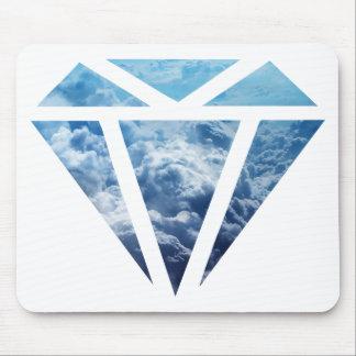 Wellcoda Blue Diamond Sky Cloud Jewel Love Mouse Mat