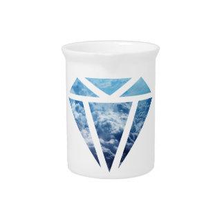 Wellcoda Blue Diamond Sky Cloud Jewel Love Pitcher