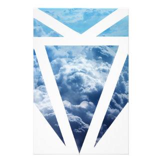 Wellcoda Blue Diamond Sky Cloud Jewel Love Stationery