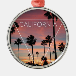 Wellcoda California Palm Beach Sun Spring Christmas Ornament