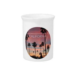 Wellcoda California Palm Beach Sun Spring Drink Pitcher