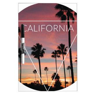Wellcoda California Palm Beach Sun Spring Dry Erase Board