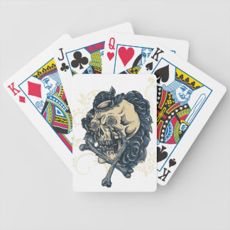 Wellcoda Candy Skull Rose Bed Scary Face Bicycle Playing Cards