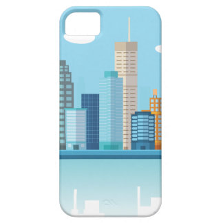 Wellcoda Cartoon City Sky Line Happy Town iPhone 5 Case