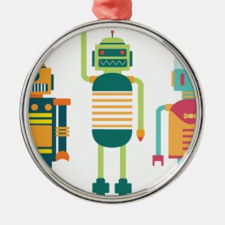 Wellcoda Cartoon Robot Heroes Future Life Christmas Ornament