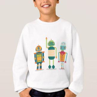 Wellcoda Cartoon Robot Party Kid Fun Life Sweatshirt
