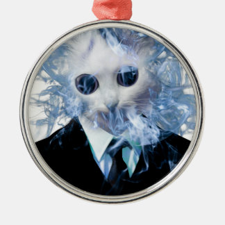 Wellcoda Cat Suit Smoke Weird Animal Pet Christmas Ornament