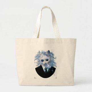 Wellcoda Cat Suit Smoke Weird Animal Pet Large Tote Bag
